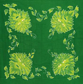 Green Man Altar Cloth 36""