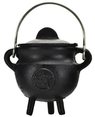 Mini Pentagram Cauldron - Cast Iron 2 3/4""