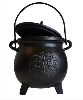 Large Tree of Life Cauldron - Cast Iron 8""