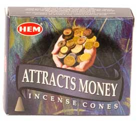 Attracts Money HEM cone 10pk