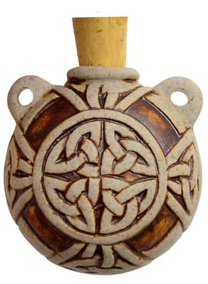 Celtic Knot Raku Bottle