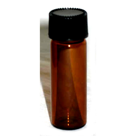 Amber Glass Bottle - 1 Dram