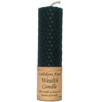 Beeswax Wealth Spell Candle - Click Image to Close