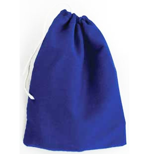 Blue Cotton Pouch