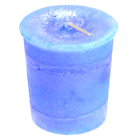 Blue Throat Chakra Votive Candle