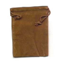 Brown Velveteen Pouch