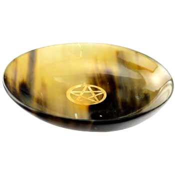 Horn Ritual Bowl with Pentagram
