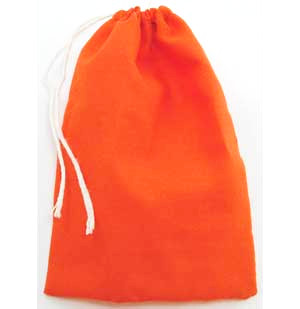 Orange Cotton Pouch