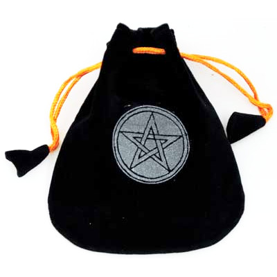 Pentagram Velveteen Pouch - Click Image to Close