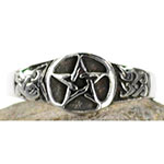 Pewter Pentagram Ring - Size 12