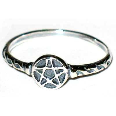 Sterling Silver Pentagram Ring - Size 4