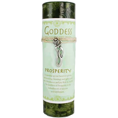 Prosperity Spell Candle and Goddess Talisman