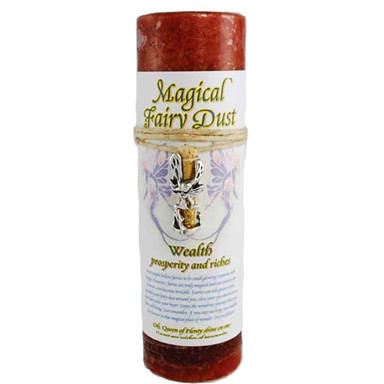 Wealth Spell Candle and Fairy Dust Talisman