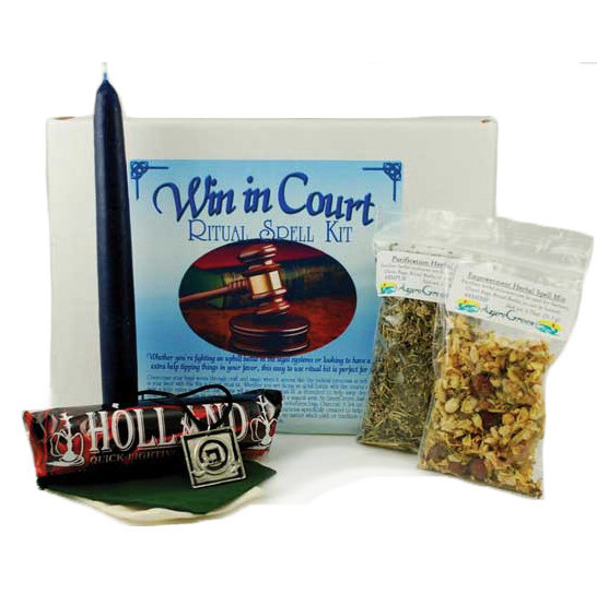 Win in Court Ritual Spell Kit - Click Image to Close